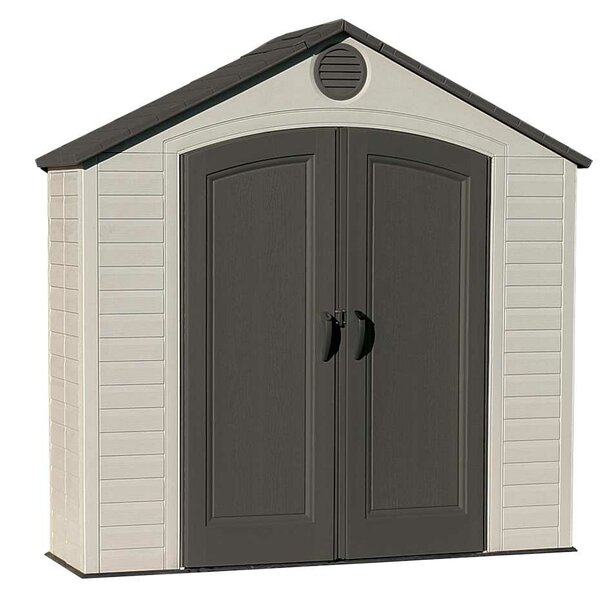 7 ft. 8 in. W x 2 ft. 2 in. D Plastic Vertical Tool Shed by Lifetime