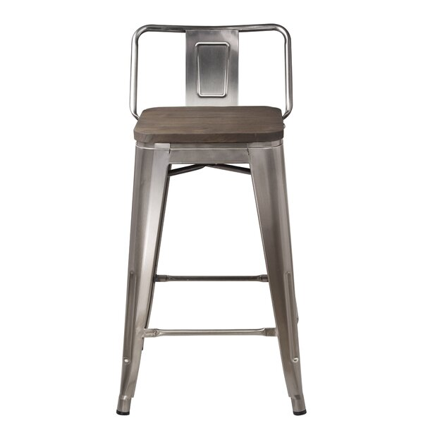Mcree Low Back 24 Bar Stool (Set of 2) by Williston Forge