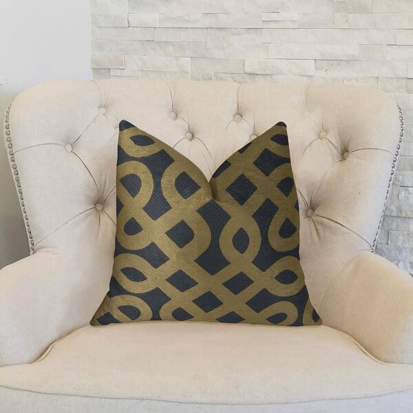 Graphic Maze Throw Pillow by Plutus Brands