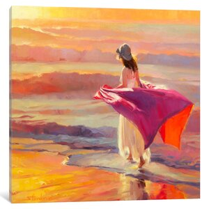 Catching the Breeze Painting on Wrapped Canvas by Darby Home Co