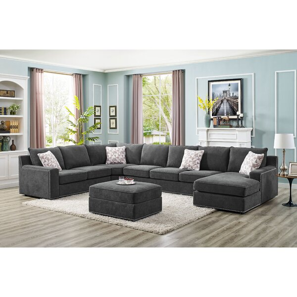 Makah 6 Seater Large Right Hand Facing Sectional Sofa With Ottoman By Wrought Studio