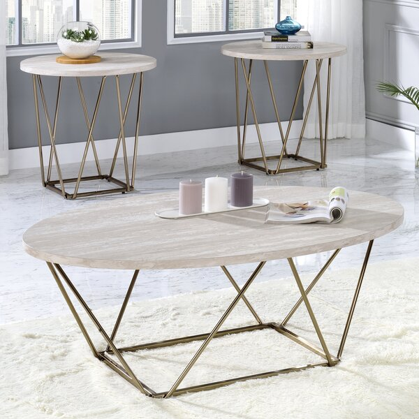 Senda 3 Piece Coffee Table Set By Everly Quinn