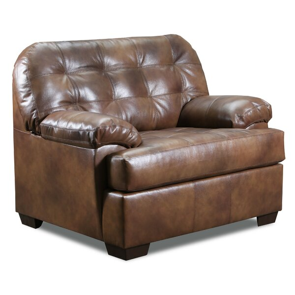 Emmalyn Top Grain Leather Match Armchair by Millwood Pines Millwood Pines
