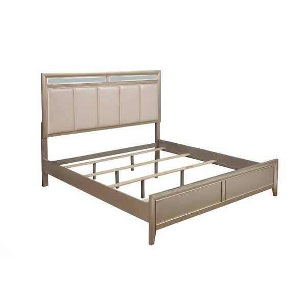 Vega Upholstered Wood Standard Bed by One Allium Way