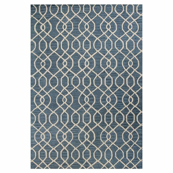 Steinbeck Hand-Tufted Teal Area Rug by Breakwater Bay