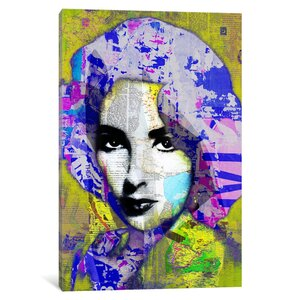 'Elizabeth Taylor' Graphic Art Print on Canvas by East Urban Home