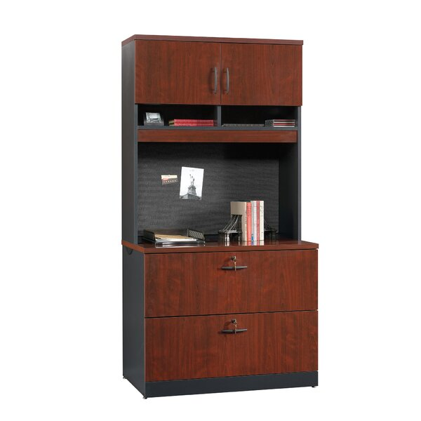 Castalia 2-Drawer Lateral Filing Cabinet with Hutch by Red Barrel Studio