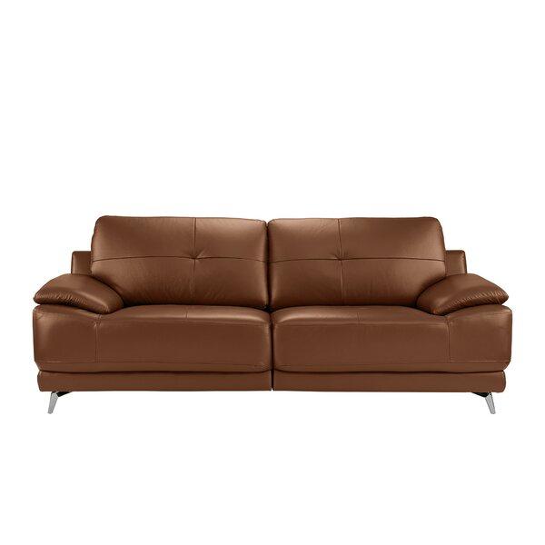 Soelberg Leather Sofa by Ebern Designs