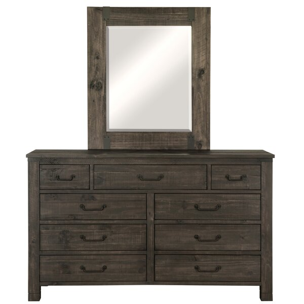 9 Drawer Dresser with Mirror by Foundry Select