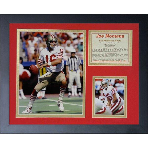 Joe Montana Framed Memorabilia by Legends Never Die