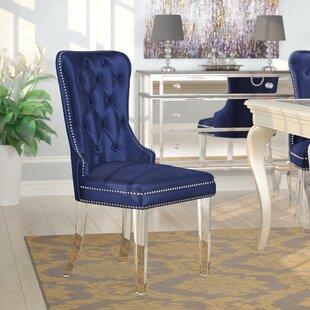 Navy Blue Tufted Chair | Wayfair