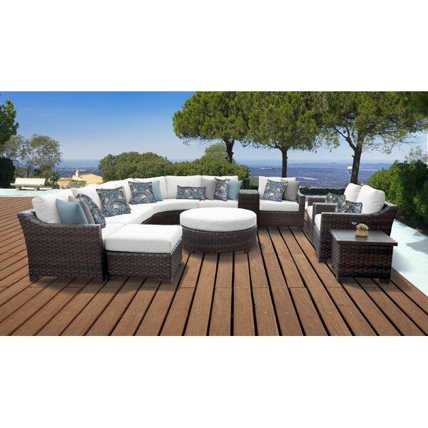 kathy ireland Homes & Gardens River Brook 12 Piece Sectional Seating Group by kathy ireland Homes & Gardens by TK Classics