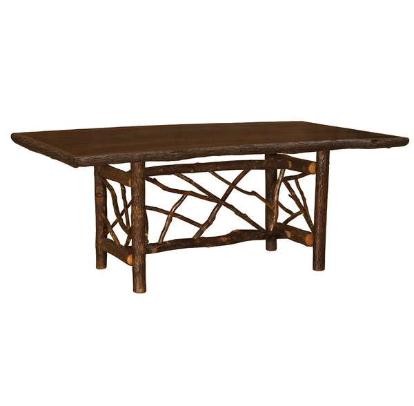 Modern Hickory Twig Log Dining Table By Fireside Lodge 2019 Sale