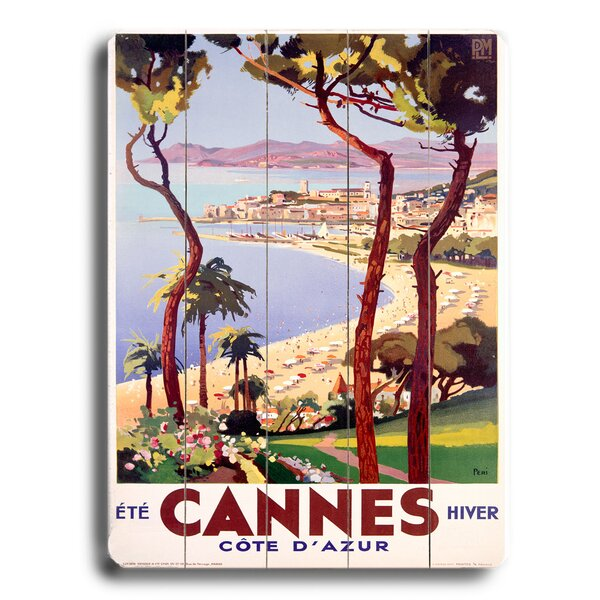 Cannes Vintage Advertisement by Bay Isle Home