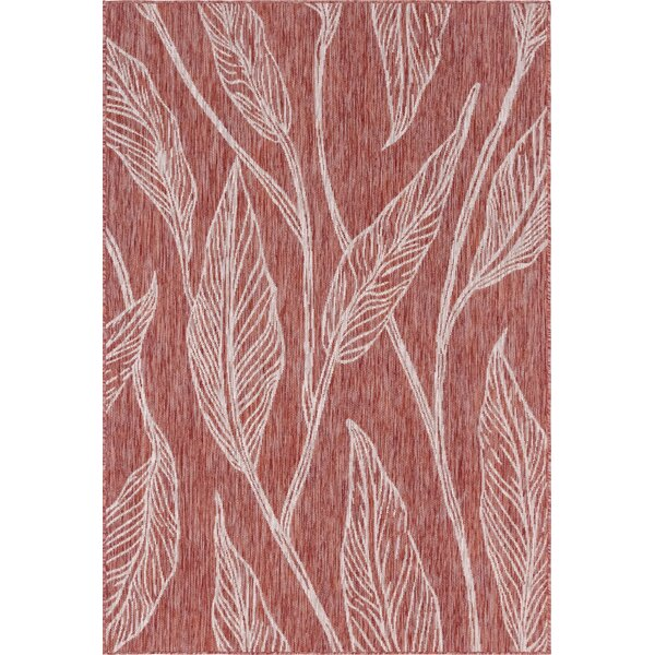 Kyzer Red/Gray Indoor/Outdoor Area Rug by Bungalow Rose