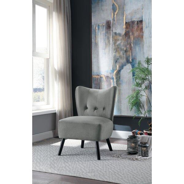 Review Holeman Velvet Slipper Chair