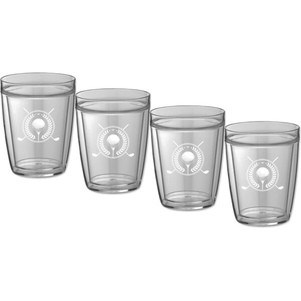 Keeter Golf 14 Oz. Crystal Every Day Glass (Set of 4) by Charlton Home