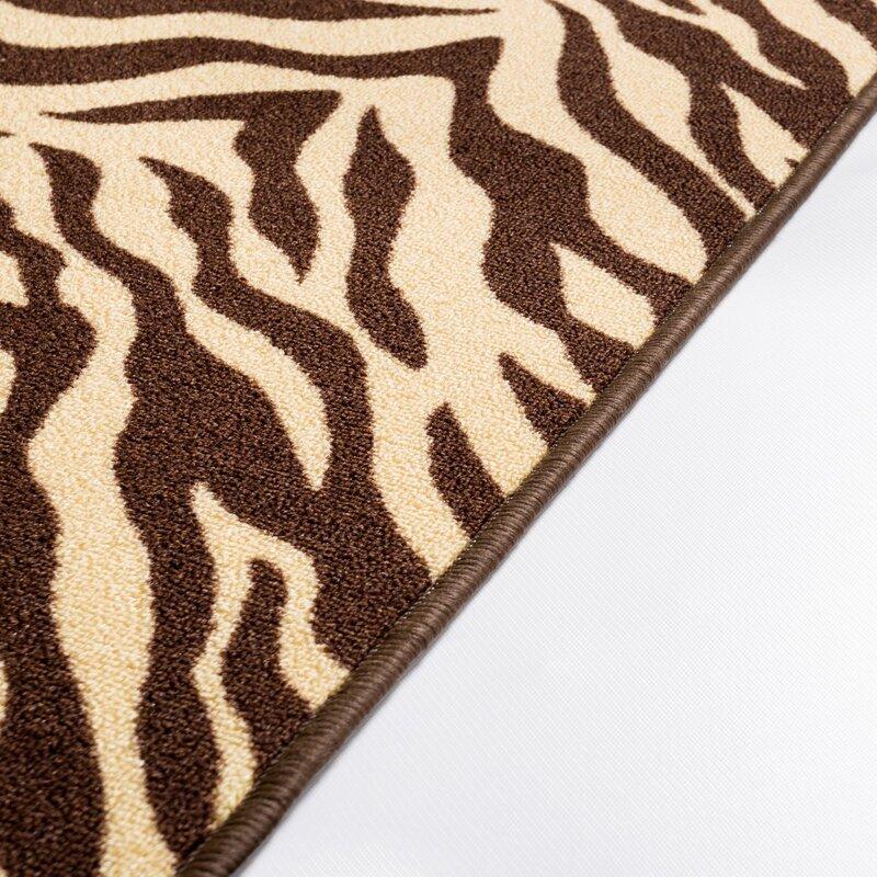 Animal Print Rug Wayfair: Well Woven Kings Court Brown Zebra Animal Print Rug