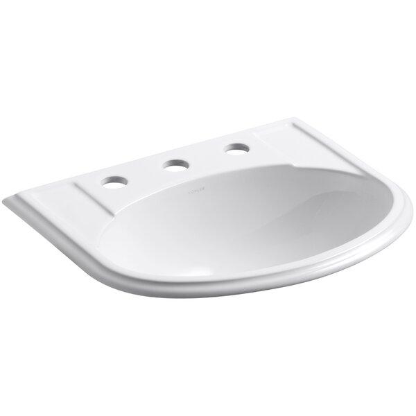 Devonshire Ceramic U-Shaped Drop-In Bathroom Sink with Overflow by Kohler