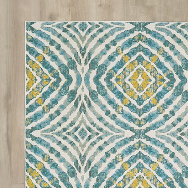 Sutton Place Teal Area Rug by Wrought Studio