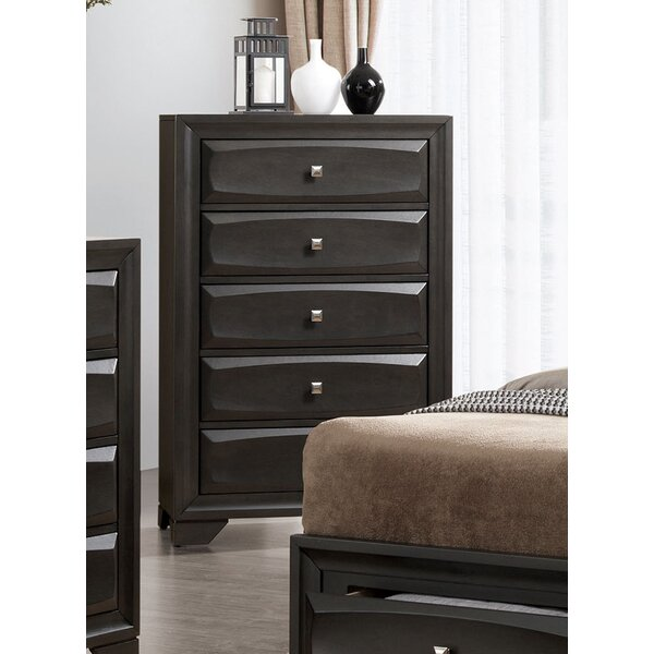 Kori Transitional 5 Drawer Chest by Grovelane Teen