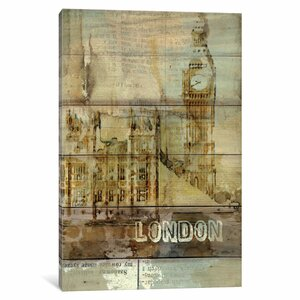 Big Ben, London, England, United Kingdom Graphic Art on Wrapped Canvas by East Urban Home