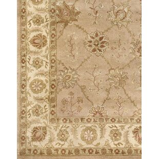 Zambrano Hand-Knotted Wool Biege Area Rug by Astoria Grand