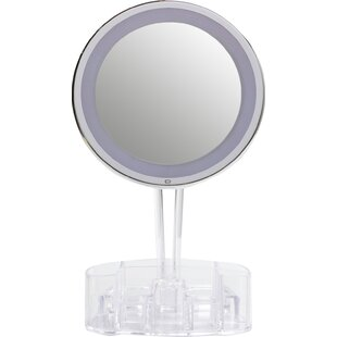 Magnification Touch Light Mirror with Storage Base Floxite