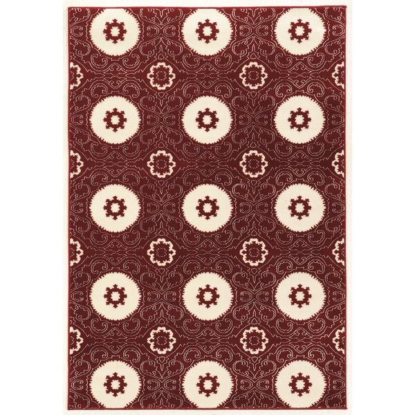 Lucinda Red Area Rug by Threadbind