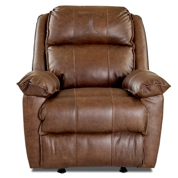 Brandt Elite Fan Furnishings Leather Manual Rocker Recliner by Klaussner Furniture