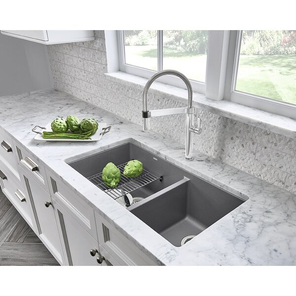Precis 33 L x 18 W Undermount Kitchen Sink by Blanco