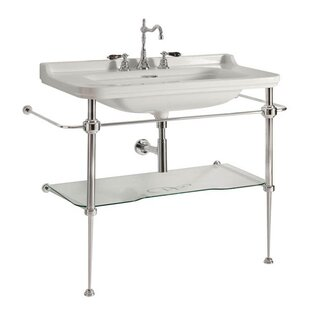 Affordable Waldorf Ceramic 40 Console Bathroom Sink with Overflow By WS Bath Collections