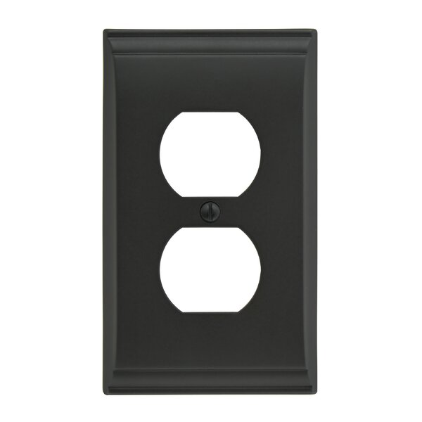 Candler Plug Outlet Wallplate by Amerock