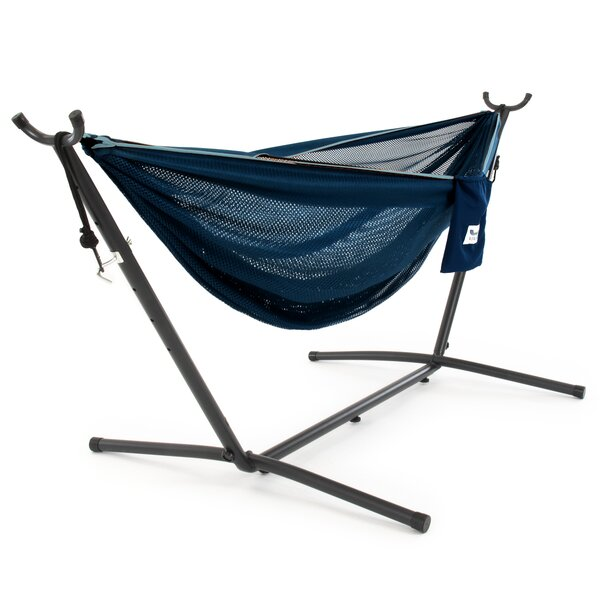 Goffe Double Classic Hammock with Stand by Ebern Designs