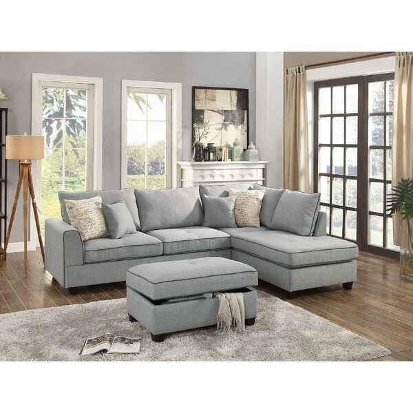 Ayita Reversible Sectional with Ottoman by Laurel Foundry Modern Farmhouse
