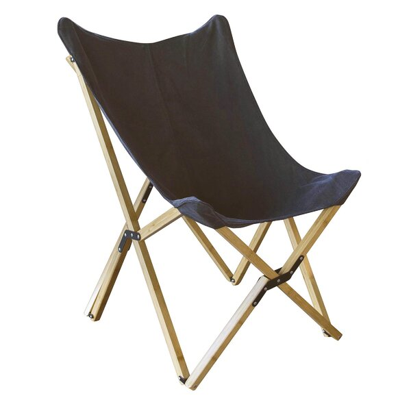 Preiss Canvas and Bamboo Butterfly Chair by Ebern Designs