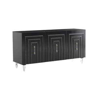 Everly Quinn Gilliland Lacquer Buffet Table  Color: Black