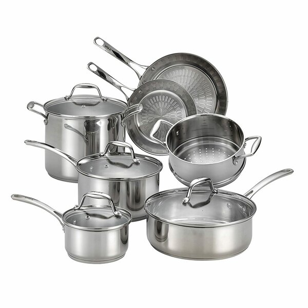 Performa X 11 Piece Non-Stick Stainless Steel Cookware Se by T-fal