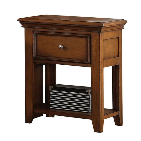 Jason Wooden 1 Drawer Nightstand by Alcott Hill
