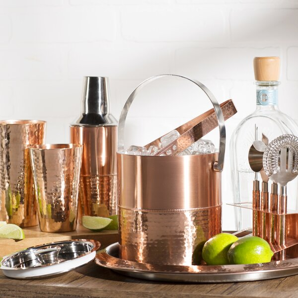 Burkhalter 9 Piece Copper Bar Set by Mint Pantry