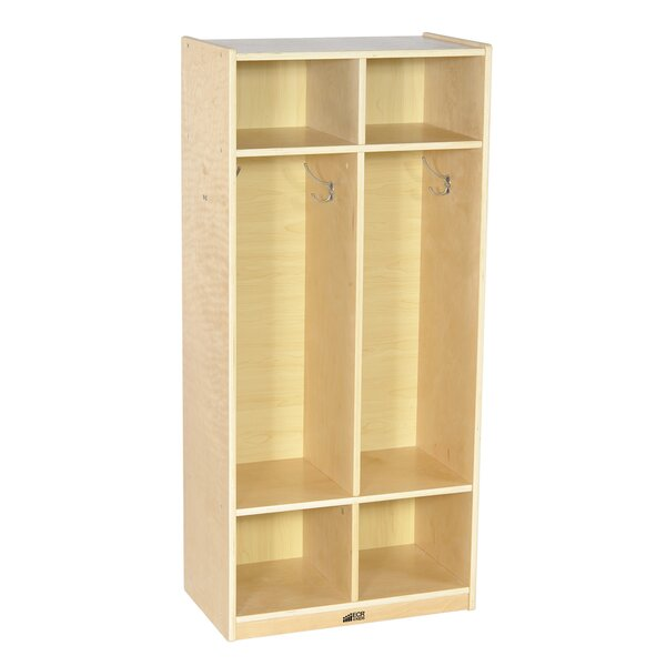 3 Tiers 2 Wide Coat Locker by Offex