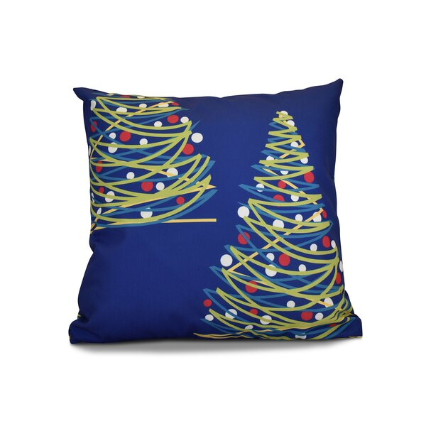 Christmas Tree Throw Pillow by The Holiday Aisle