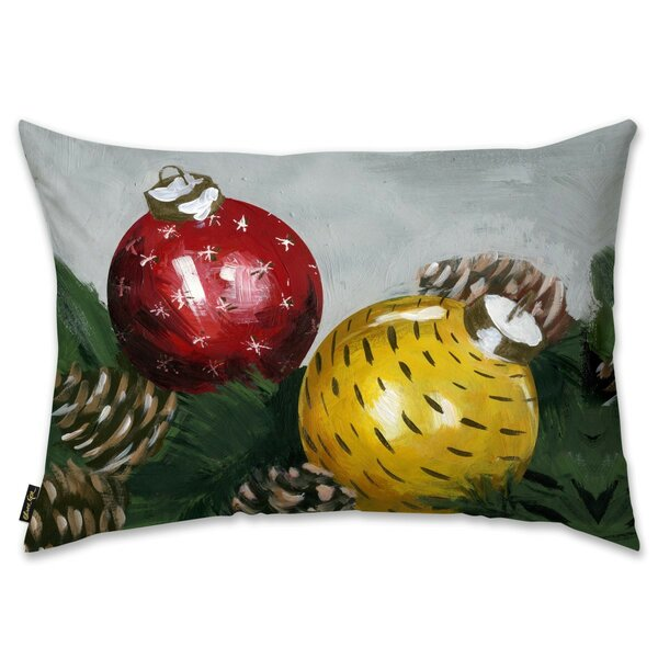Xmas Time Lumbar Pillow by The Holiday Aisle
