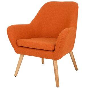 Best Volmer Mid Century Modern Barrel Chair by Corrigan Studio