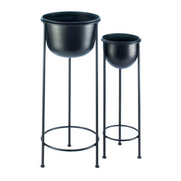 Tiara Bucket 2 Piece Nesting Plant Stand Set by Ebern Designs