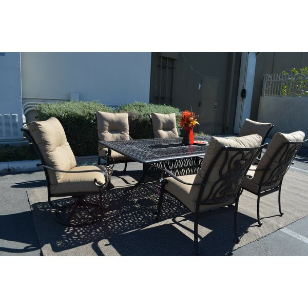 Poulsbo 7 Piece Patio Set by Fleur De Lis Living