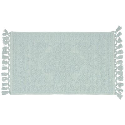 French Connection Feikert Rectangular 100 Cotton Solid Bath Rug French Connection Size 20 W X 34 L Color Light Blue Shefinds