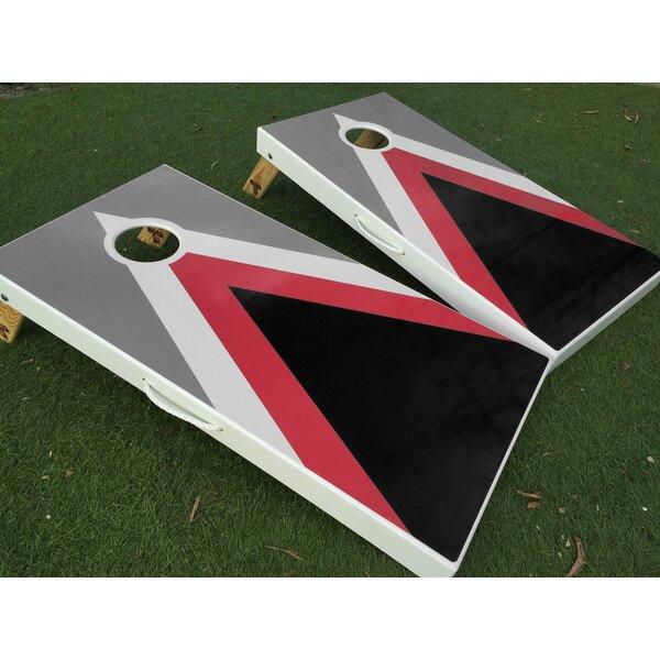 Triple Triangle Cornhole Board with Toss Bags Set by West Georgia Cornhole