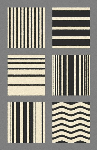 Borasisi Gray Area Rug by Ebern Designs