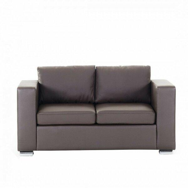 Enya Leather 2 Seater Sofa by Orren Ellis